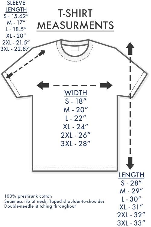 size chart shirt