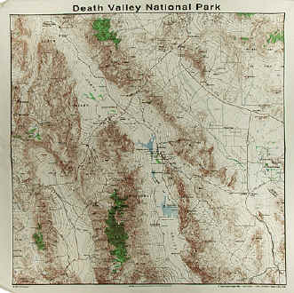 Death Valley Elevation Map.Natural History Themes On Cotton Bandannas